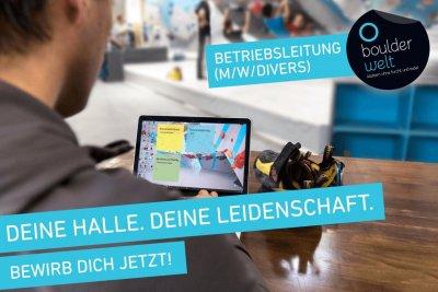 Stellenausschreibung Betriebsleitung Boulderwelt Dortmund Job Beruf