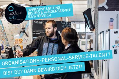 Stellenausschreibung Operative Leitung Bistro und Kundenservice Boulderwelt Dortmund