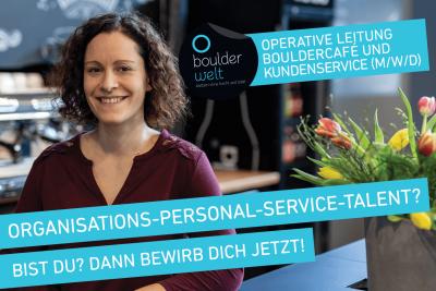 Boulderwelt Dortmund sucht eine Operative Leitung Bouldercafe und Kundenservice