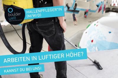Die Boulderwelt Dortmund sucht Hallenpfleger
