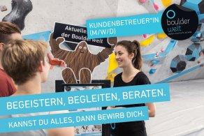 Die Boulderwelt Dortmund sucht Kundenbetreuer