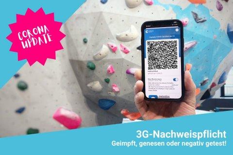 Ab dem 20.08.21 besteht in der Boulderwelt Dortmund die 3G-Nachweispflicht.