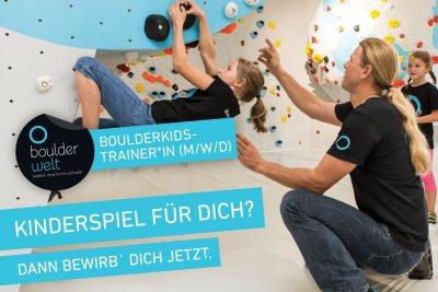 Die Boulderwelt Dortmund sucht Boulderkidstrainer