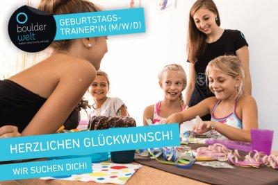 Die Boulderwelt Dortmund sucht Geburtstagstrainer
